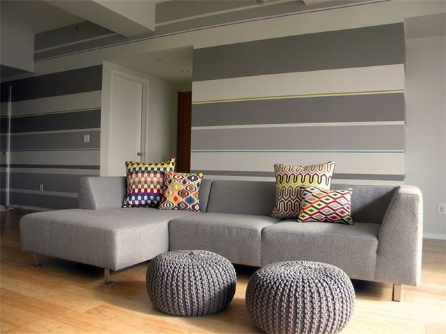 contemporary living room by colorTHEORY Boston