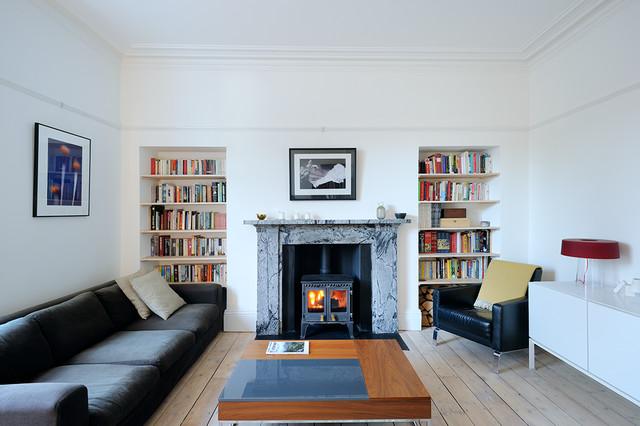South Crown Street Refurbished Living Room - Scandinavian - Living