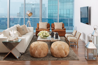 South Florida Condo Chic - Contemporary - Living Room - Miami - by Jalan Jalan Collection
