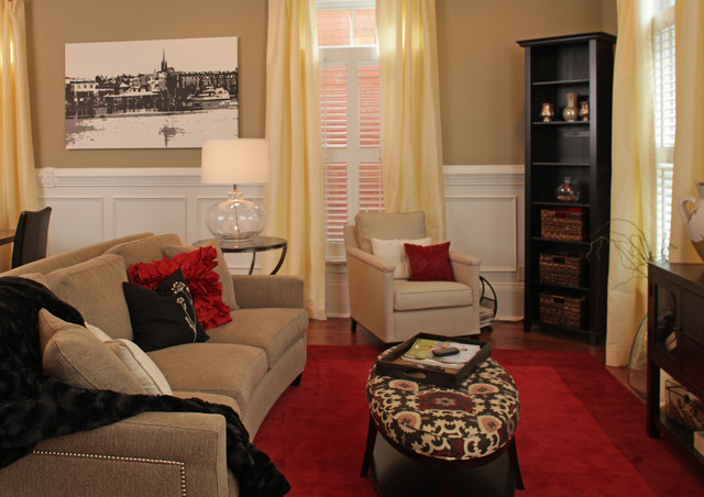 South Front Street traditional-living-room
