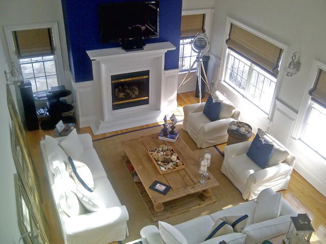 South Hampton Beach House Beach Style Living Room New York By Design Concepts Interiors Llc