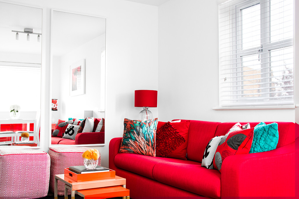 75 Beautiful Red Living Room Pictures Ideas February 2021 Houzz