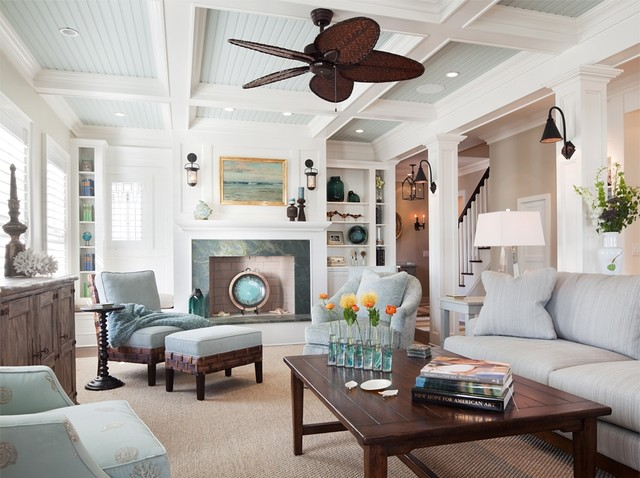 South Surf Road beach-style-living-room