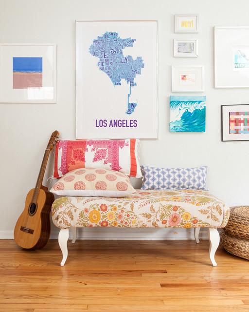 Southern California Beach House beach-style-living-room