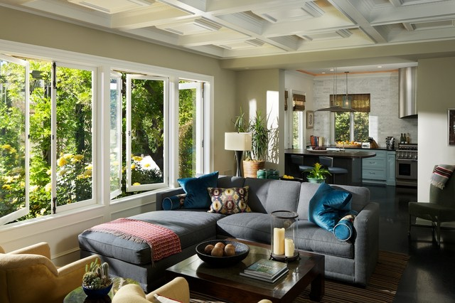 southern california homes contemporary living room