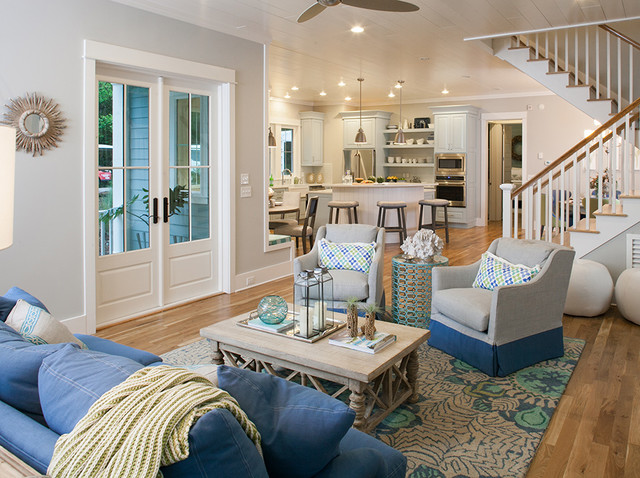Lovely Southern Living Inspired Home At Bald Head Island, North CarolinaBeach Style  Living Room, Atlanta