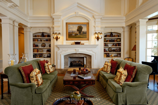 Southern style estate for Traditional style living rooms