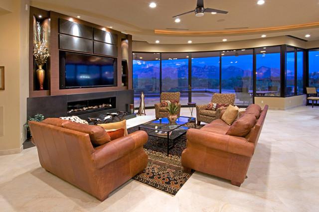 Southwest Contemporary Southwestern Living Room