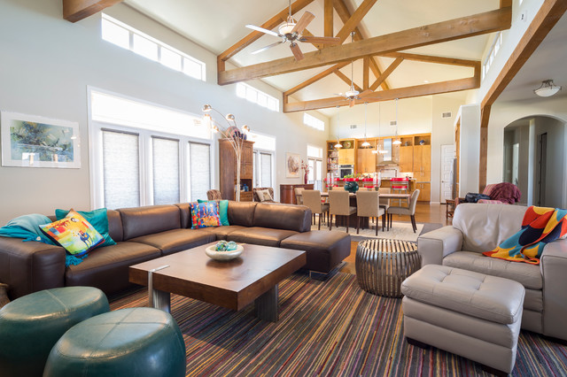 southwest ranch transitional living room dallas by