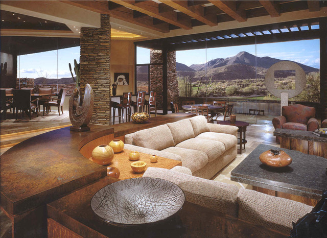 Desert Mountain contemporary - Contemporary - Living Room ...