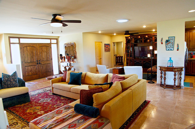 Http Www Houzz Com Photos 7842901 Southwestern Style Carefree Home Rustic Living Room Phoenix