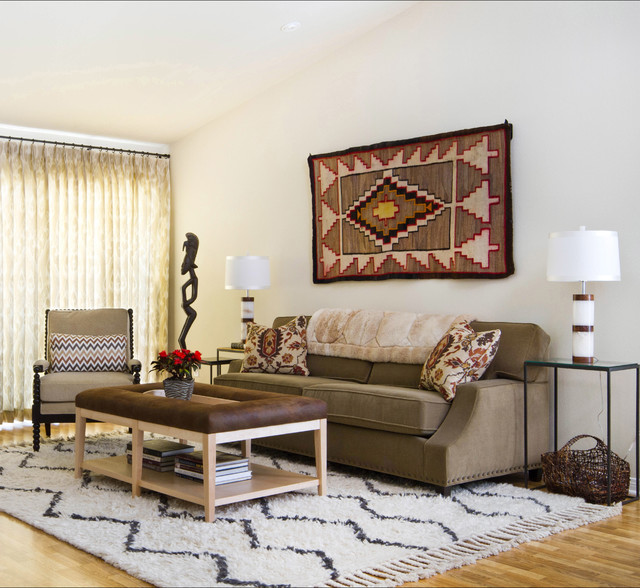 Southwestern Style Living Room Transitional Living Room Los