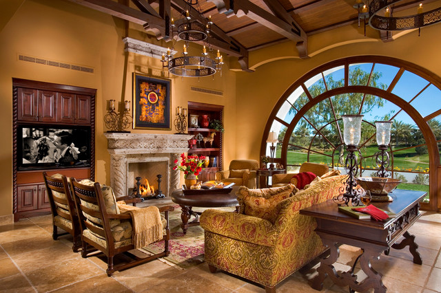 Spanish Architecture 2 Mediterranean Living Room Orange County