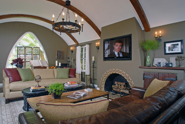 Spanish Casita eclectic-living-room