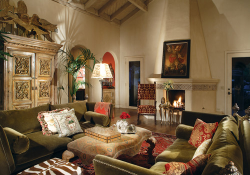 Spanish Colonial Bathroom Traditional Living Room