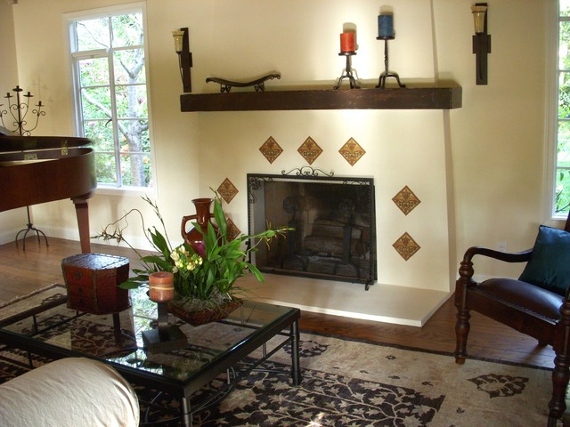 Spanish Colonial Revival Traditional Living Room San
