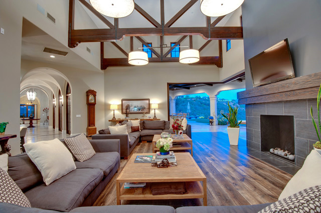 Spanish contemporary style estate contemporary-living-room