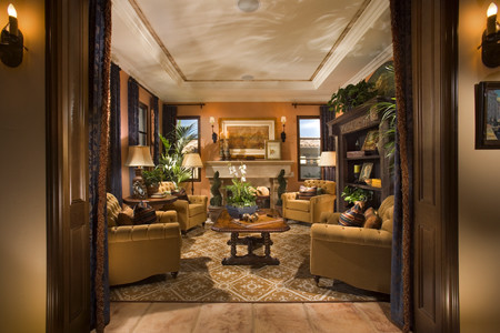 Spanish eclectic warmth mediterranean living room for Michaels furniture huntington park