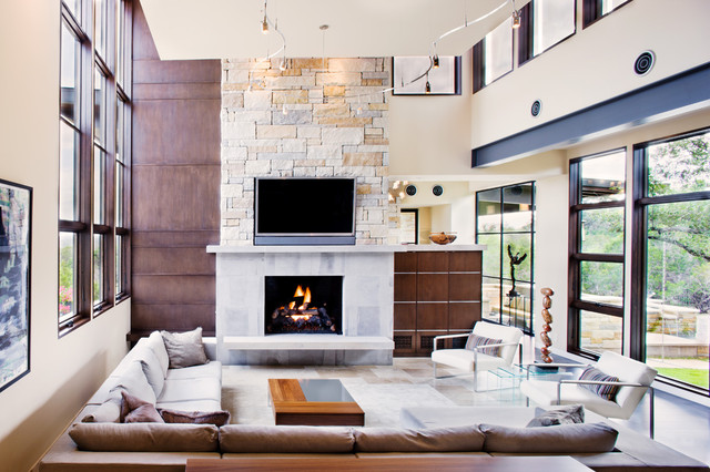 Spanish Oaks Custom Contemporary contemporary-living-room