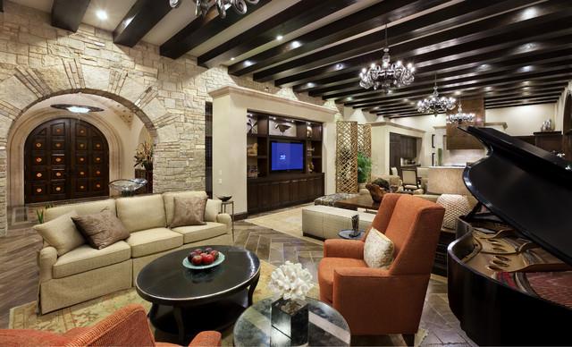 Spanish Oaks Hacienda mediterranean-living-room