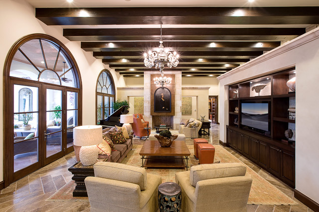 Spanish Oaks Hacienda Contemporary Living Room