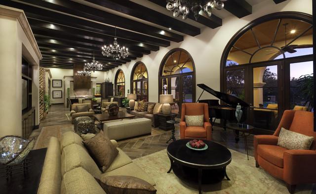 Spanish Oaks Hacienda Mediterranean Living Room