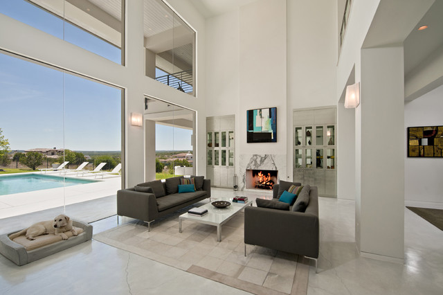 Spanish Oaks Residence Living contemporary living room