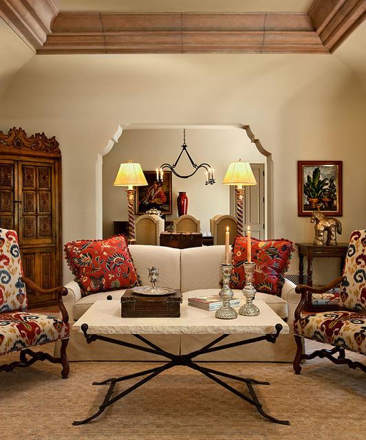 Mediterranean Style Living Room: Spanish Residence
