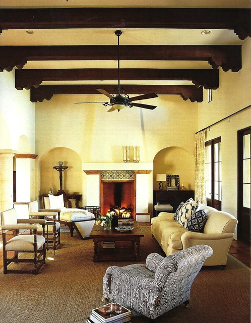 Spanish Revival Rustic Living Room Phoenix By