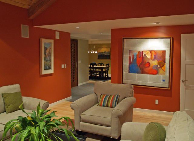 spanish style residence palo alto mediterranean living room