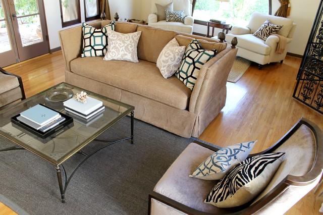 Spanish Style Updated mediterranean-living-room
