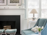 traditional living room Room of the Day: Wrapped in Blues and Silvery Hues (5 photos)