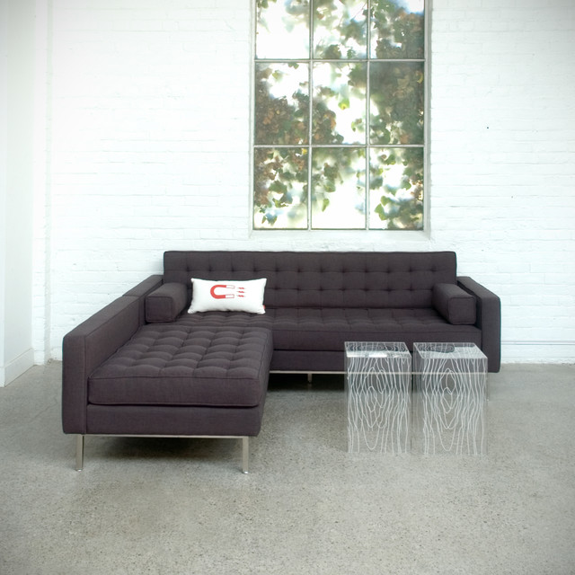 Spencer bi sectional by gus modern direct furniture for Modern furniture direct