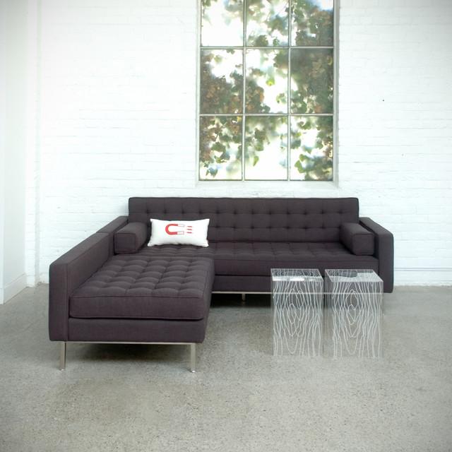 Spencer Bi Sectional By Gus Modern Direct Furniture Modern Living Room Atlanta By