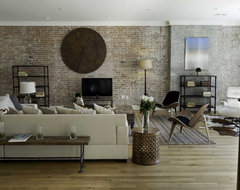 Spice Warehouse Tribeca Loft Living room eclectic living room
