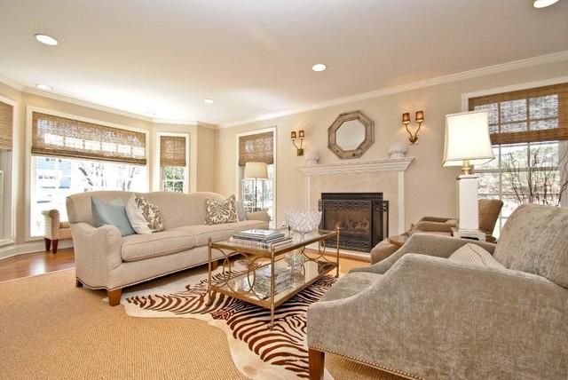 Split Level Alteration (Rye, NY) traditional-living-room