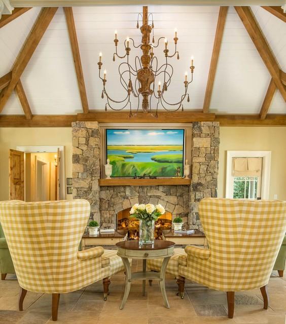 Houzz Farmhouse Living Room: Sprawling Family Estate