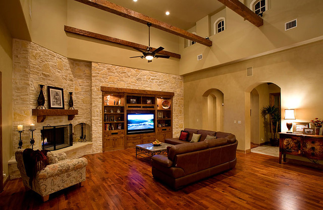 sprawling tuscan ranch mediterranean living room