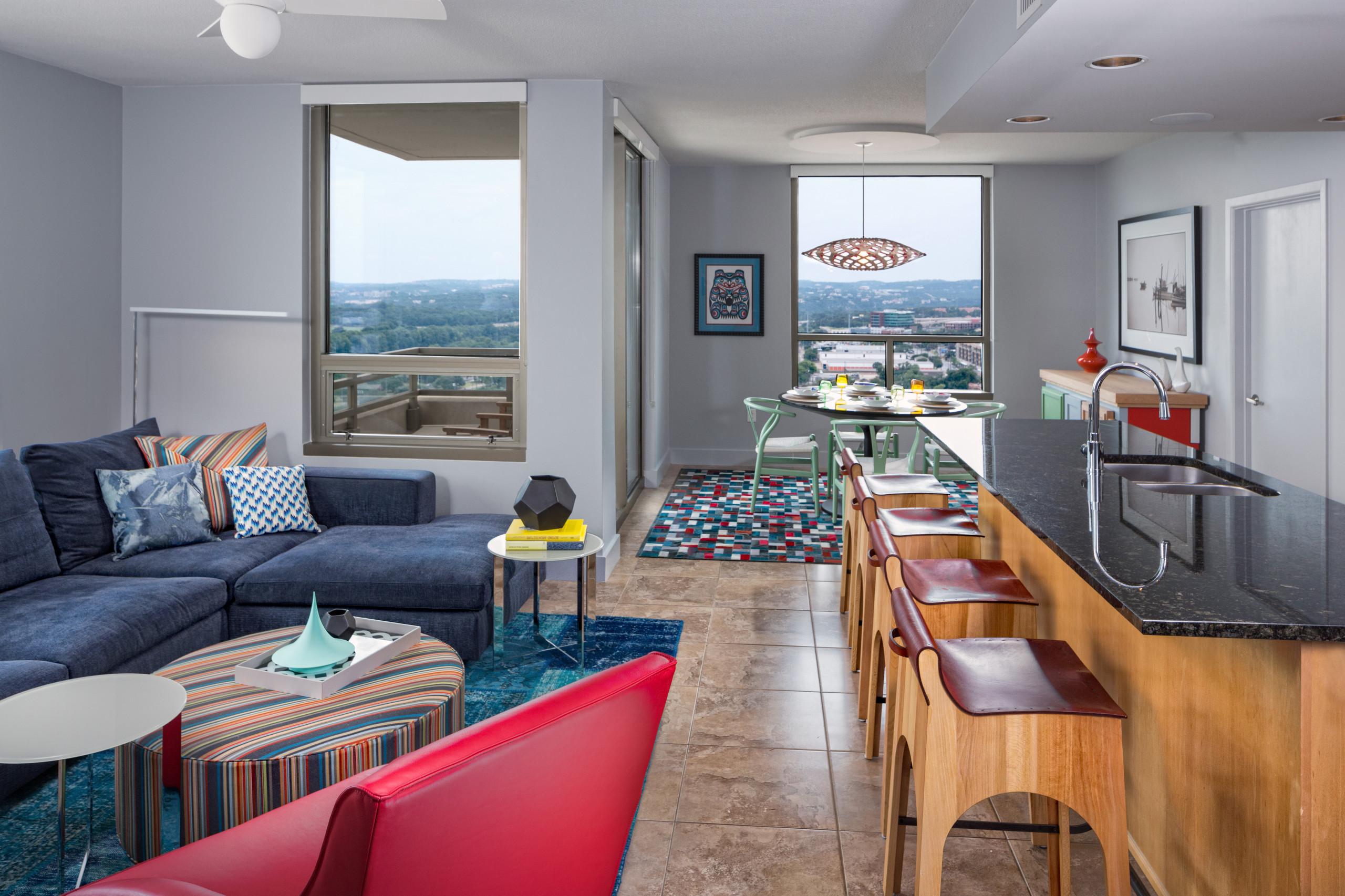 20+ Wohnzimmer mit grauer Wandfarbe und Linoleum Ideen & Bilder ...
