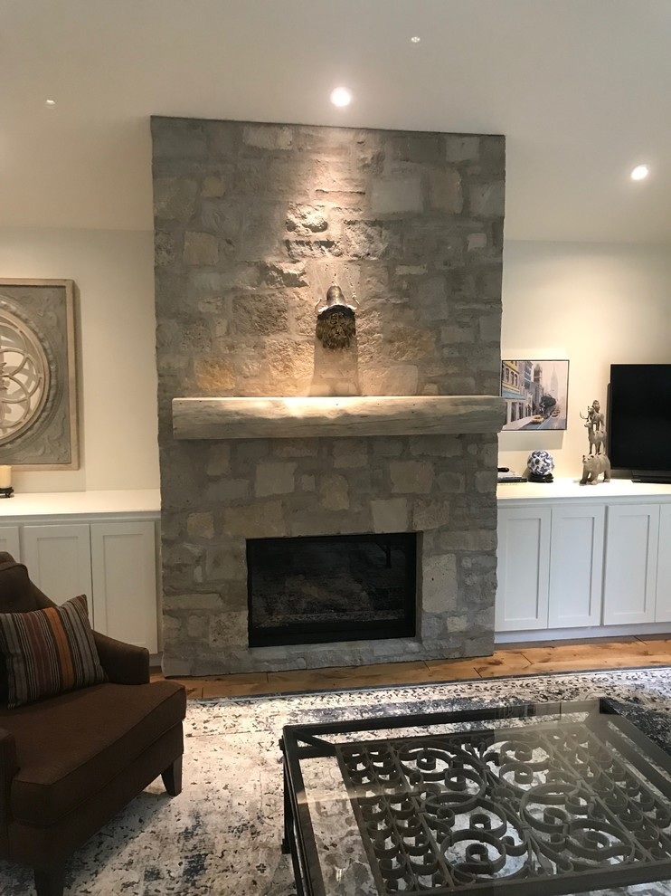 Spruce Log Mantel