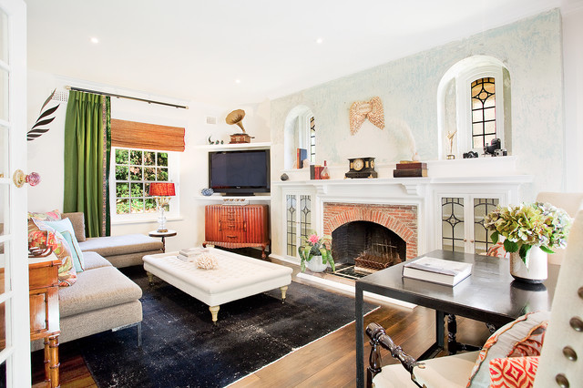 Spruson Street eclectic-living-room