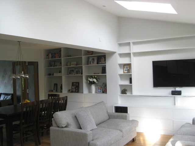 St alban 39 s extension and redesign contemporary living for Redesign room layout