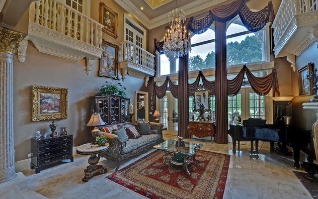 Good St. Ives Country Club Custom Homes Traditional Living Room Part 13