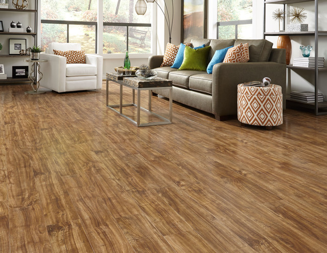 St. James Collection By Dream Home   12mm Pearisburg Barn Board Laminate  Floorin Contemporary