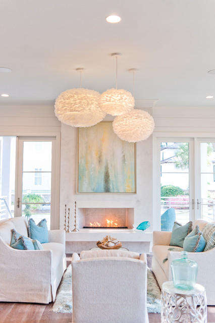 Inspiration for a beach style living room remodel in Jacksonville
