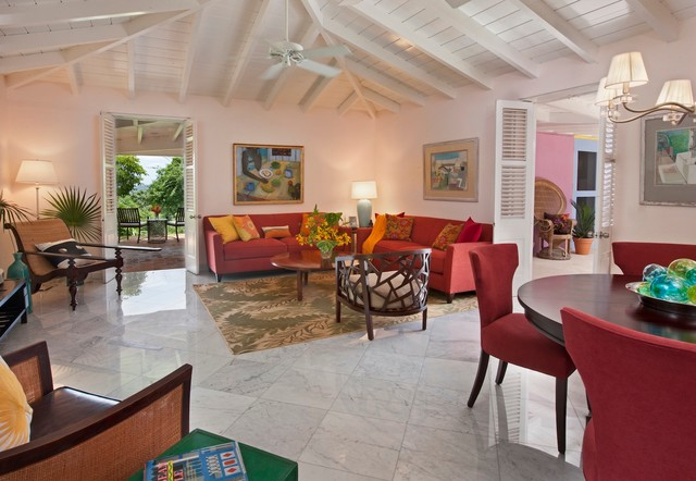 St. Thomas Villa: Living Room tropical