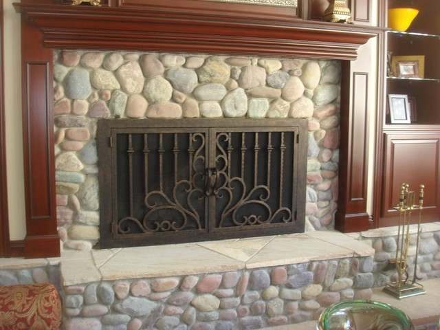Ams fireplace doors remodel ideas traditional living room san diego by ams fireplace inc - Houzz fireplace screens ...