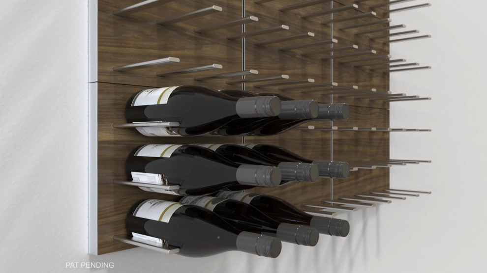 Stact Wall Mounted Wine Rack in Pure White
