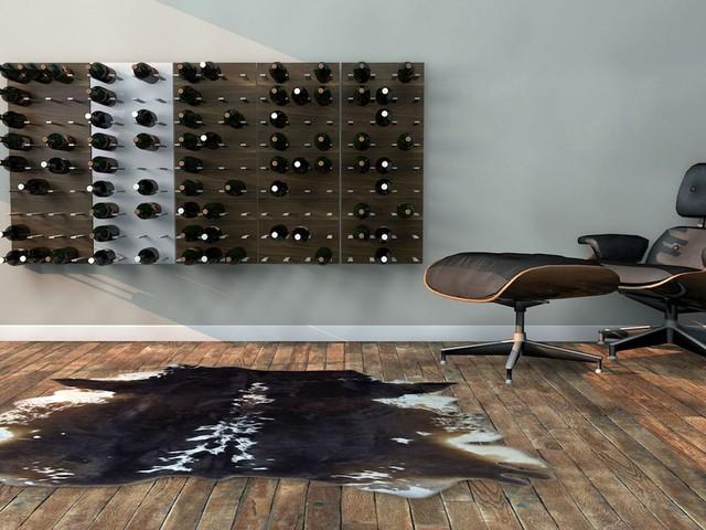 STACT Modular Wine Wall - revolutionary wine rack by ICFF winner Eric Pfeiffer modern-living-room