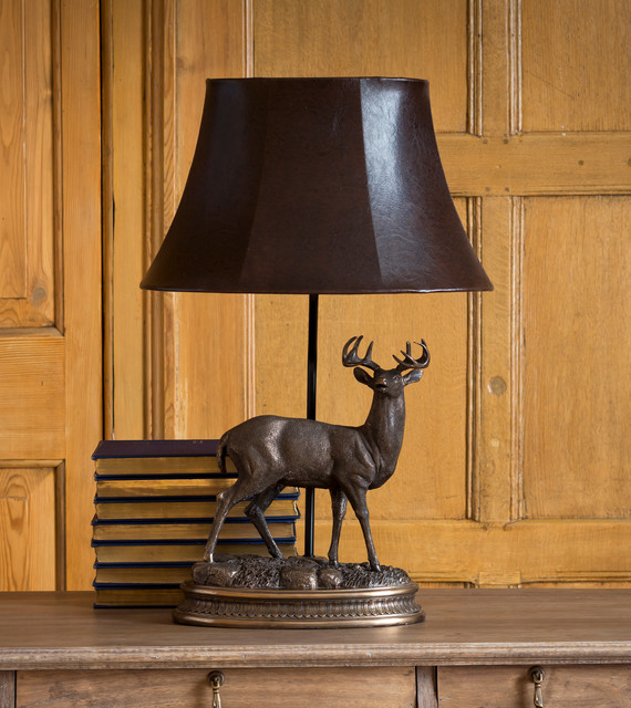 Stag Table Lamp Traditional Living Room London By
